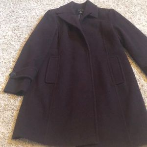 Chocolate brown women's wool coat